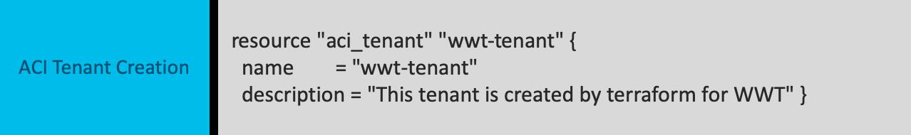 ACI Tenant creation
