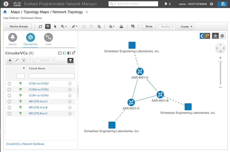 Screenshot of Cisco Evolved Programmable Network Manager