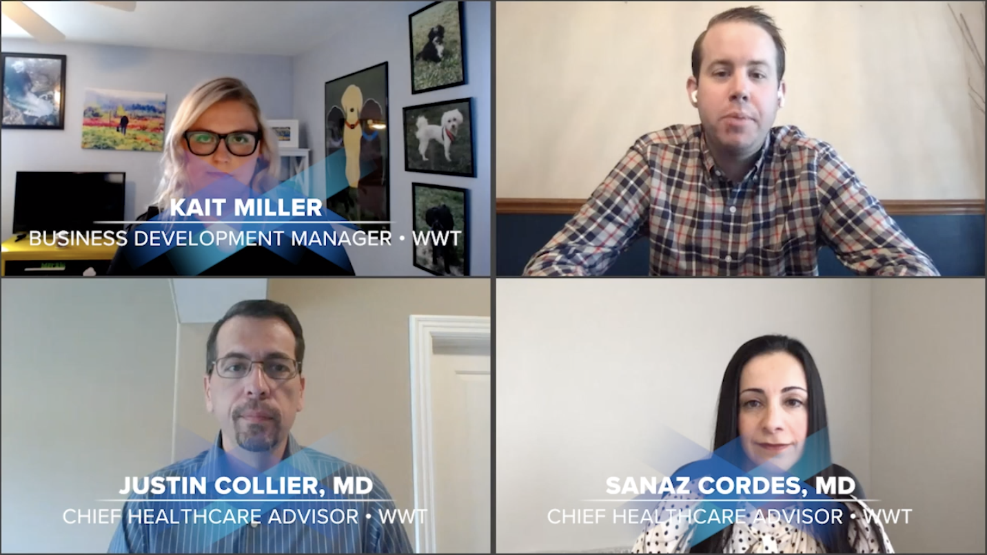 Business Continuity Talks speakers - Kait Miller, Justin Collier, MD, and Sanaz Cordes, MD