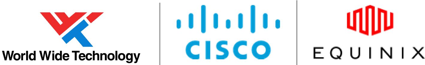 WWT, Cisco, and Equinix logos