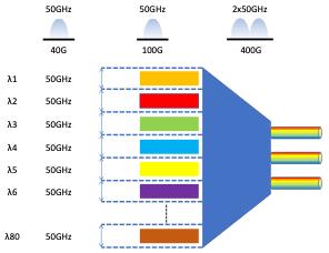 Figure of a fixed grid DWDM