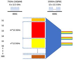 Figure of Flex Spectrum DWDM