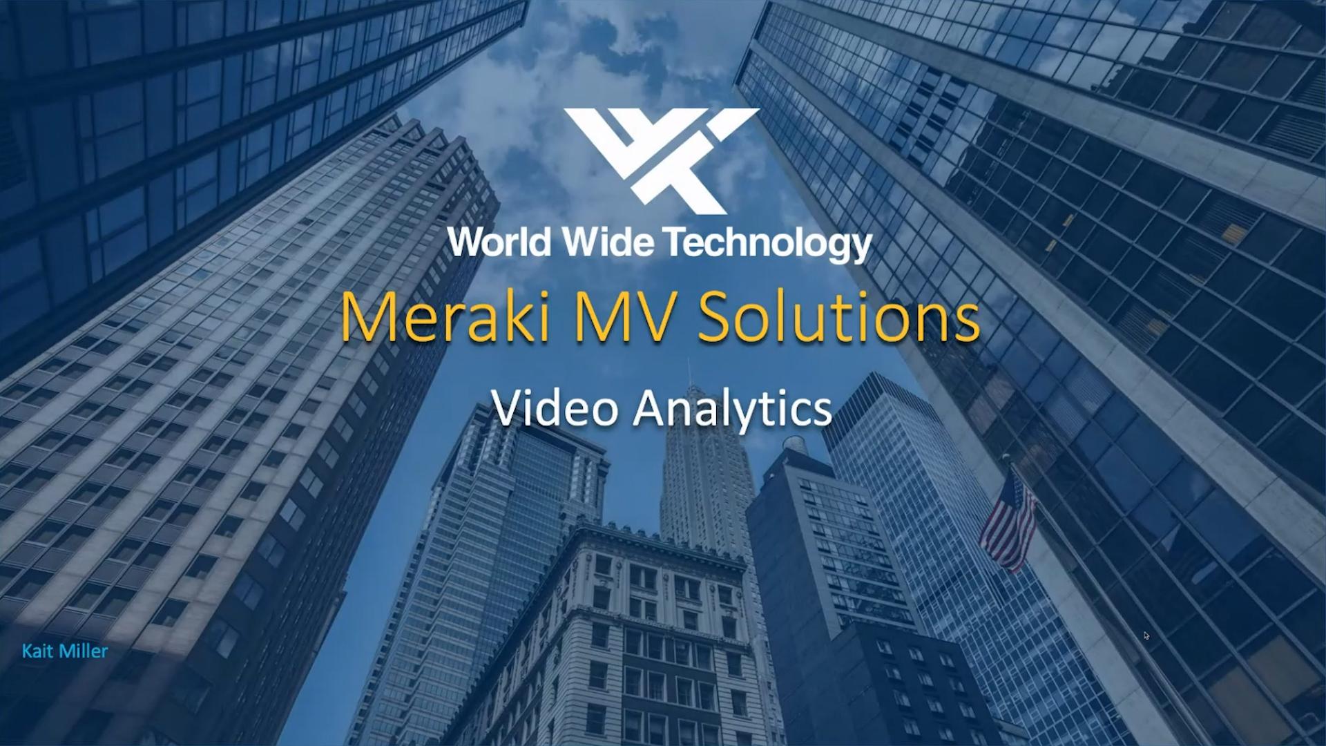 Meraki MV Solutions - Video Analytics