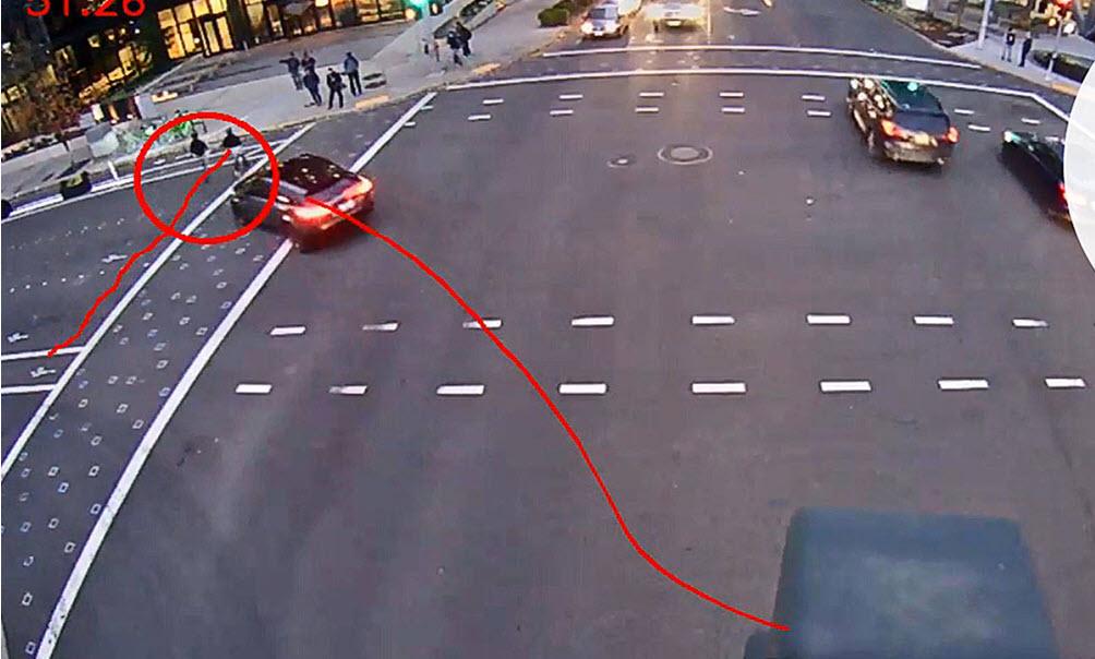 Pedestrian near hit