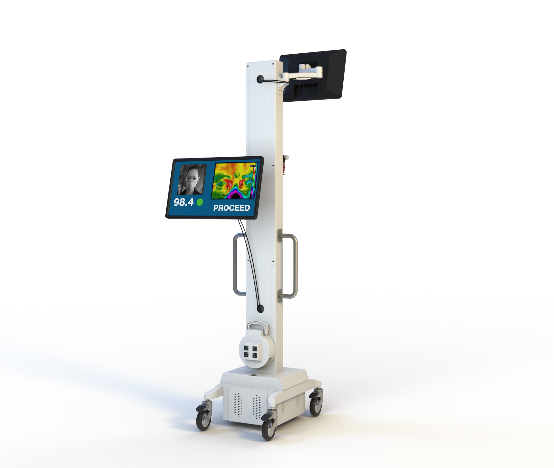 integrated thermal camera on portable cart