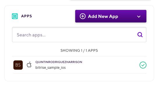 Apps menu
