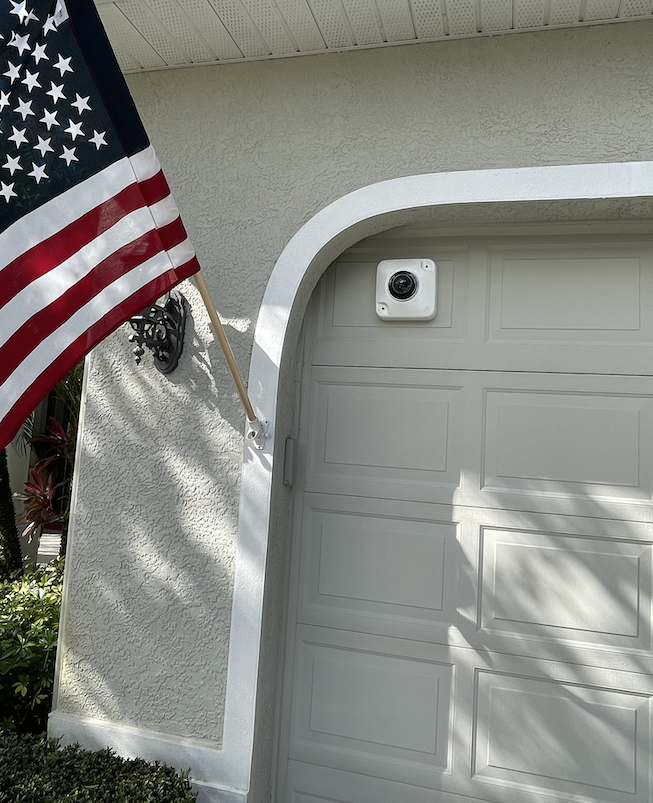 Smart camera on house